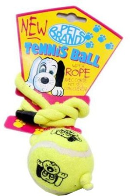 Pet Brands Tennis Ball On A Rope Ball For Dog