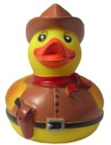 Karlie Vinyl Duck Cowboy Squeaky Toy For...
