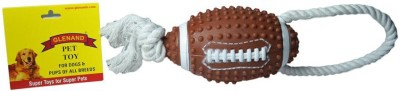 Glenand Vinyl American Football With Rope Handle Squeaky Toy For Dog