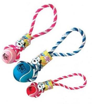 Pet Brands Wow Tennis Ball Tug Jumbo Tug Toy For Dog