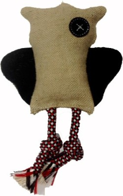 Snug Hug Jute Owl Black Jute Chew Toy For Dog