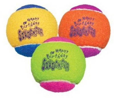 Kong Birthday Air Squeaker Balls Squeaky Toy For Dog