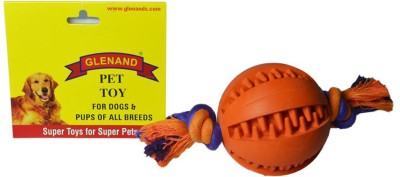 Glenand Rubber Dental Chew With Rope Ball For Dog