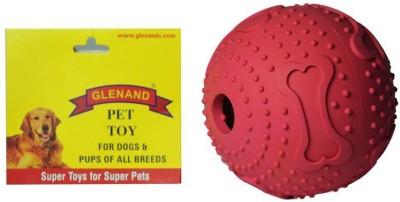 Glenand Rubber Bone Print Maze Treat Ball For Dog