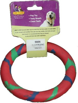 Love ,n, Care Multicolor Ring - 15.8 cm Rubber Fetch Toy For Dog