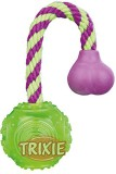Trixie Ball on a Rope Rubber Tug Toy For...