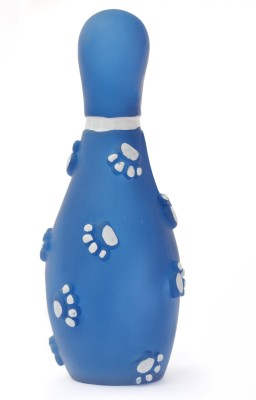XPO Blue Bowling Rubber Squeaky Toy For Dog