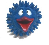 Super Dog Squeeze Spike Ball Toy Duck Fa...