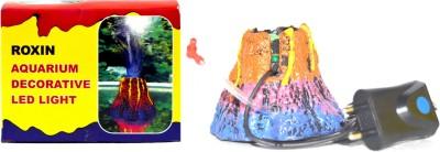 Roxin Aquarium Submersible Decorative Volcano LED Light | Best Quality For Decoration Fiber Plush Toy For Fish