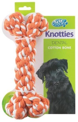 Pet Brands Knotty Bone Large Cotton Chew Toy For Dog