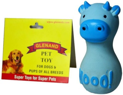 Glenand Latex Stuffed Grunter Dumbell Cutie Cow Squeaky Toy For Dog