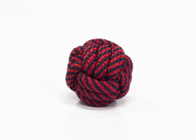 Snug Hug Snug Rope Ball Red Cotton Chew Toy For Dog