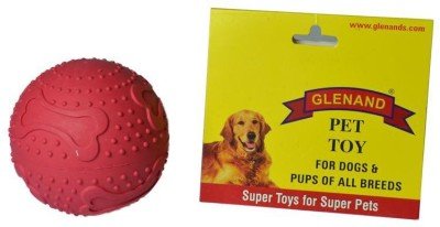 Glenand Rubber Bone Print Maze Treat Ball For Dog