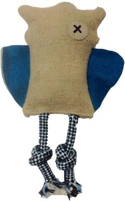 Snug Hug Jute Owl Blue Jute Chew Toy For Dog