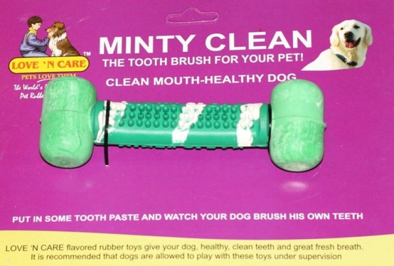 Love 'n' Care Minty Clean - Small Rubber Tug Toy For Dog
