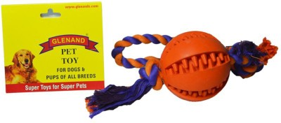 Glenand Rubber Dental Chew With Rope Tug Ball For Dog