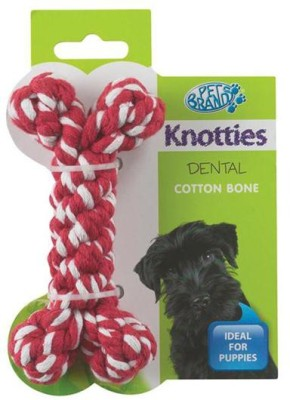 Pet Brands Knotty Bone Small Cotton Chew Toy For Dog