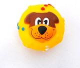 XPO Yellow Dog Face Rubber Squeaky Toy F...