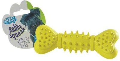 Pet Brands Rubba Squeaka Bone Rubber Toy For Dog