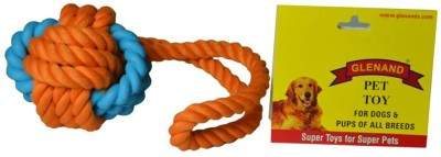 Glenand Rubber Rope Tug 3.75 GI023 Ball For Dog