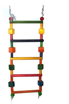 Waves Ladder Bird Wooden Tug Toy For Bird