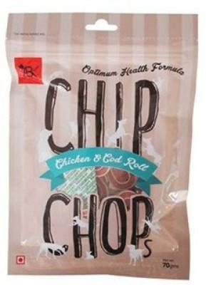 Chip Chop Chicken and Codfish Rolls Chicken Dog Treat