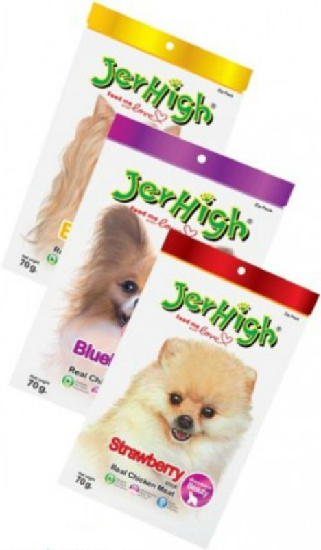 Jerhigh Fruity Stick Combo Chicken, Fruit Dog Treat(70 g, Pack of 1)