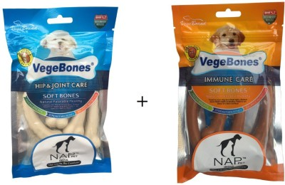 Nap Pet India Hip & Joint and Immune Care Chicken, Milk Dog Treat