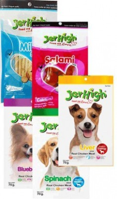 Jerhigh Mix Combo 2 Milk, Liver, Spinach Dog Treat