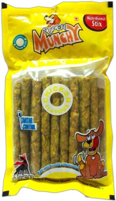 Super Dog Munchy Sticks 10 Pieces Chicken Dog Treat(80 g, Pack of 4)