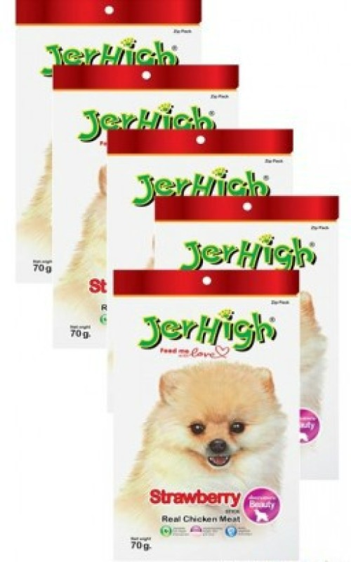 Jerhigh Strawberry Fruity Stick Combo Chicken, Fruit Dog Treat(70 g, Pack of 1)