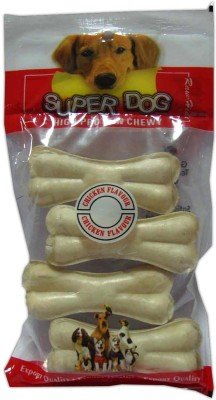 Super Dog Chew Bone Mini 4 Pieces Chicken Dog Treat
