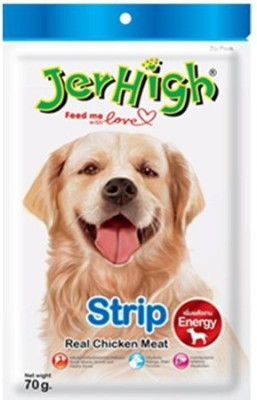 Jerhigh Strip Chicken Dog Treat(70 g, Pack of 1)