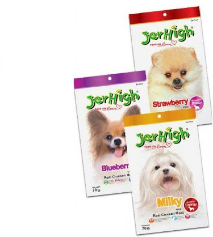 Jerhigh Fruit and Milk Stick Combo Chicken, Fruit, Milk Dog Treat(70 g, Pack of 1)