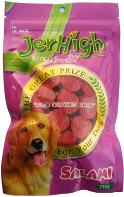 Jerhigh Salami Chicken Dog Treat(70 g, Pack of 6)