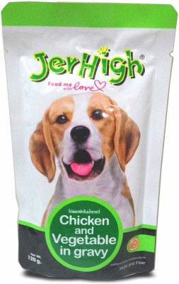 Jerhigh Gravy Chicken, Vegetable Dog Treat(120 g, Pack of 3)