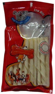 Super Dog Chew White Twist Sticks Milk Dog Treat