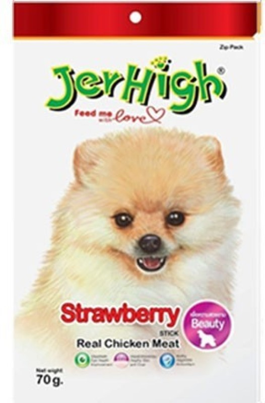 Jerhigh Strawberry Chicken Dog Treat(70 g, Pack of 1)