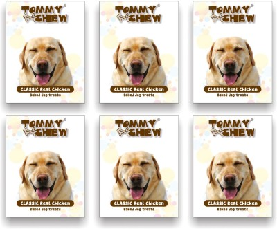 tommychew Classic Real Baked Treat Pack Of 6 Chicken Dog Treat