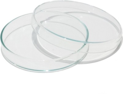 DULAB Glass Reusable Petri Dish(75 mm Pack of 10)