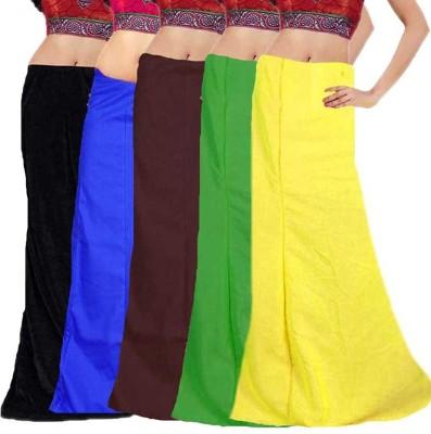 eFashionIndia Black_Blue_Brown_Geen_Yellow_Petticoat Cotton Petticoat