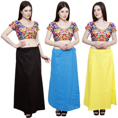 eFashionIndia Black_SkyBlue_Yellow Cotton Petticoat