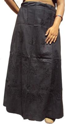 New Life Enterprise Hath0830-Black Cotton Petticoat