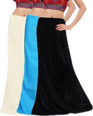 Javuli in-black-white-skyblue Cotton Petticoat