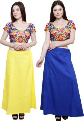 Pistaa Lemon Yellow and Ink Blue Cotton Petticoat
