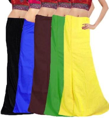Javuli in-com5-black-blue-brown-green-yellow Cotton Petticoat(XXL)