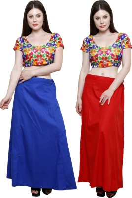 Pistaa Ink Blue and Red Cotton Petticoat