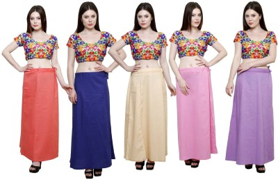 eFashionIndia Peach_Blue_Beige_Pink_Purple_Petticoat Cotton Petticoat