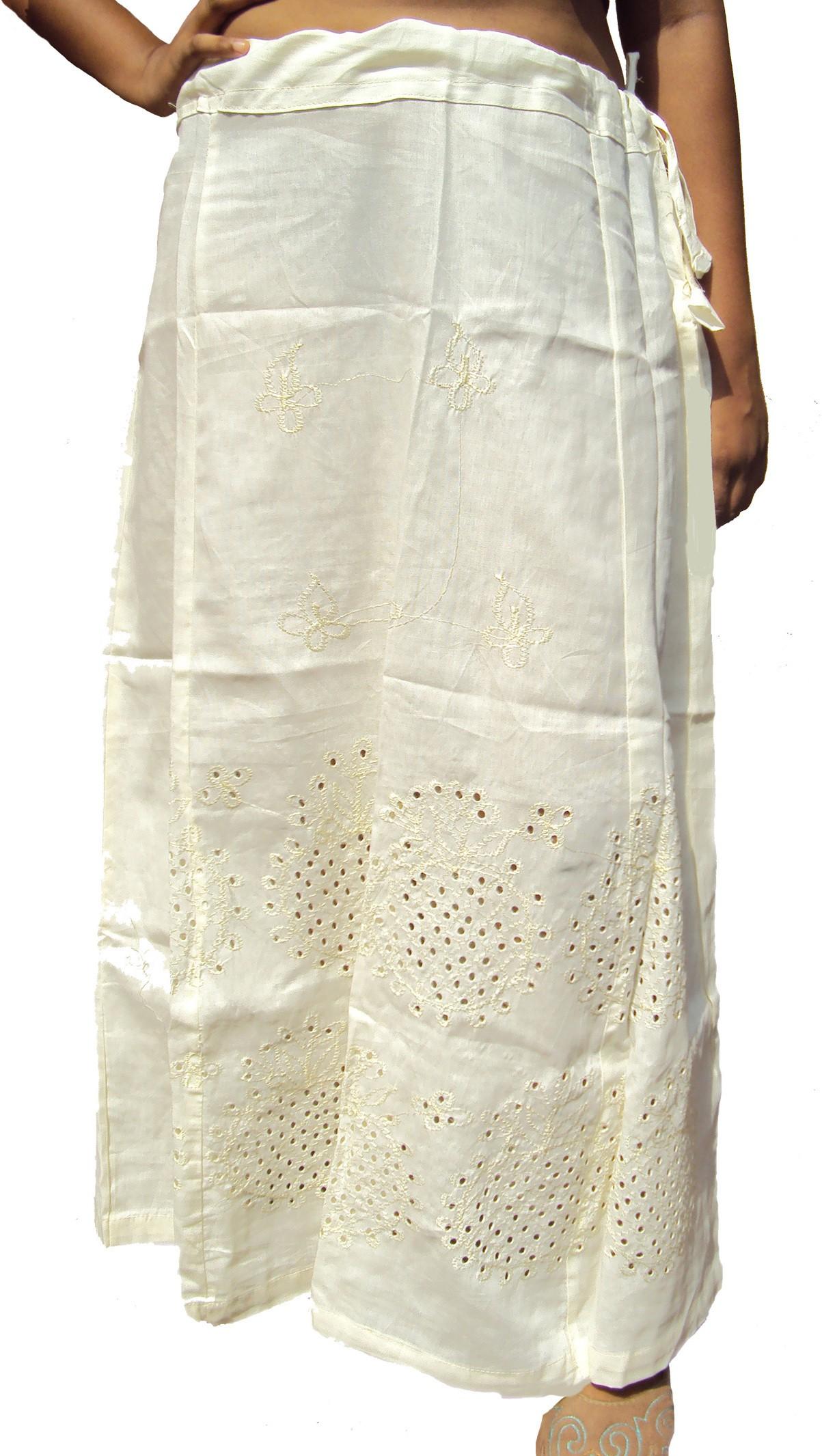 New Life Enterprise Hath0710-Cream Cotton Petticoat(XXL)