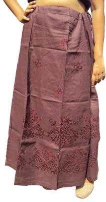 New Life Enterprise Hath0712-Chocolate Cotton Petticoat